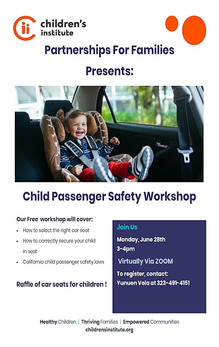 Child Passenger Safety Workshop image