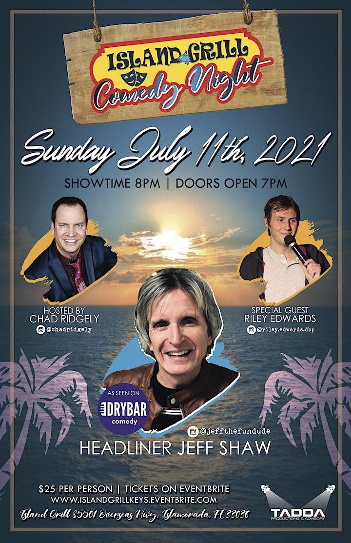 Island Grill Comedy Night Presents Jeff Shaw image