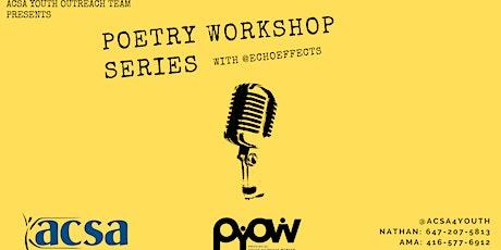 Poetry Workshop Series tickets