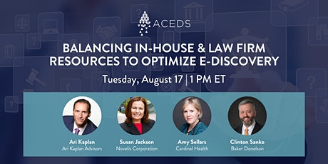 Balancing In-House and Law Firm Resources to Optimize E-Discovery tickets