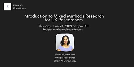Introduction to Mixed Methods Research for UX Researchers tickets