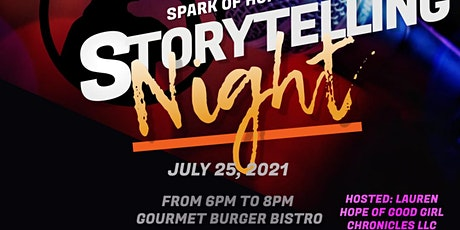 Spark of Hope Storytelling Night @ Gourmet Burger Bistro tickets
