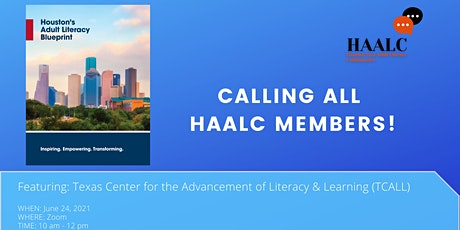 HAALC Meeting featuring TCALL: Using Professional Development to Advocate tickets