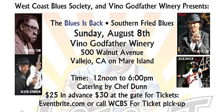 West Coast Blues Society Presents The Blues Is Back Fundraiser 2021 tickets