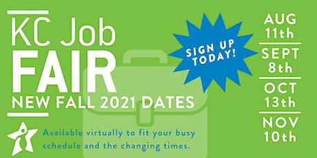 KC Job Fair Fall 2021 - November 10th tickets