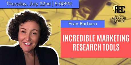Incredible Marketing Research Tools with Fran Barbaro of Barbaro Tech! tickets