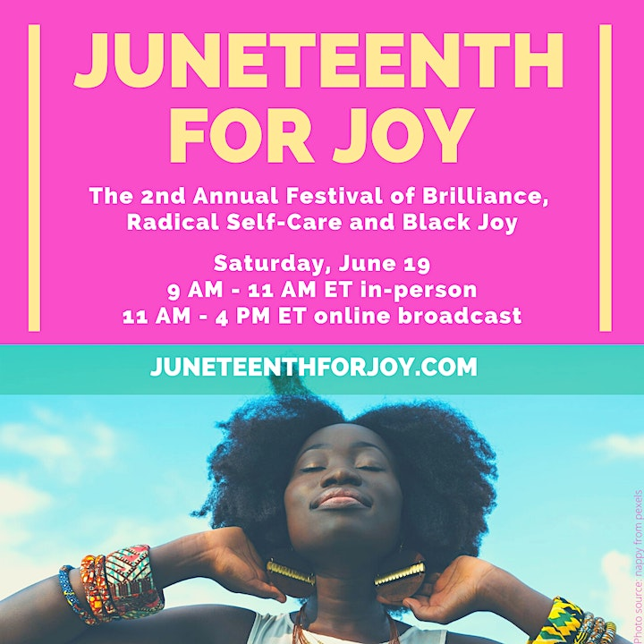 The 2nd Annual Juneteenth for Joy (Hybrid -- in-person or online broadcast) image