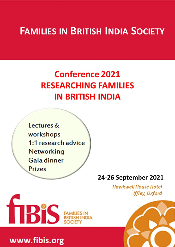 Families In British India Society Conference  September 2021 image