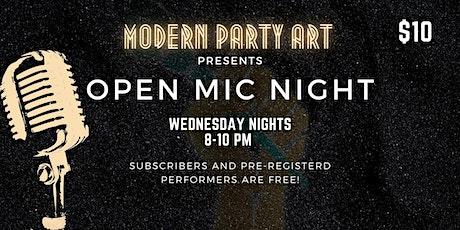 Open Mic Night @ Modern Party Art Boston tickets