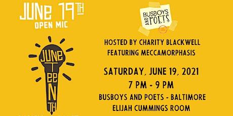 Juneteenth Open Mic  | Baltimore | June 19, 2021 | Host Charity Blackwell tickets