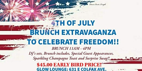July 4th Brunch Extravaganza at Glow Lounge tickets