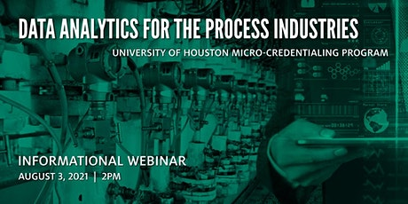 Data Analytics for the Process Industries  - Informational Webinar tickets