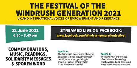 The Festival of the Windrush Generation 2021 tickets