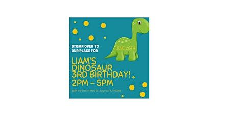 Liam's 3rd Dinosaur Birthday Party tickets