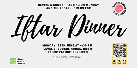 Revive a Sunnah Iftar Dinner at ISOC -28th June tickets
