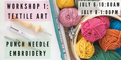 Textile Art Workshop – Punch Needle Embroidery tickets