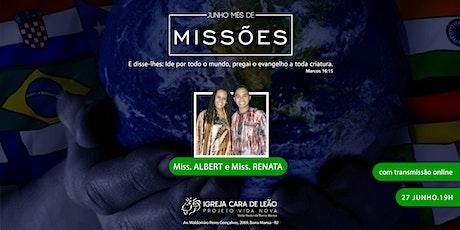 Culto de Missões 19h ingressos