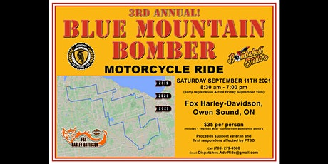 BLUE MOUNTAIN BOMBER Motorcycle Ride 2021 tickets