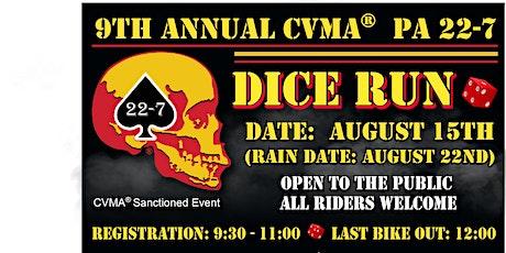 9th Annual CVMA PA 22-7 Dice Run tickets