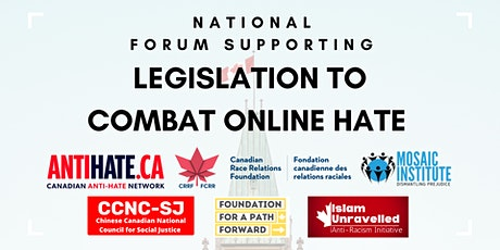 National Forum Supporting Legislation to Combat Online Hate tickets