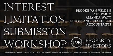 Interest limitation submission workshop for property investors tickets