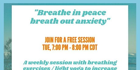"""""""Breathe in peace breath out anxiety"""" tickets"""