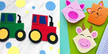 Farmyard corner bookmarks & popsicle tractors (Mudgee Library, ages 3-5) tickets