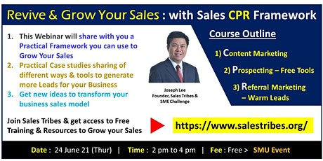 Grow your Sales with the Sales CPR Framework tickets