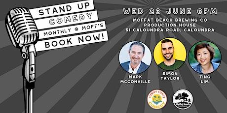Funny Coast Comedy @ Moffat Beach Brewing Co: Simon Taylor & Friends tickets