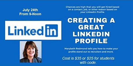 Creating a Great LinkedIn Profile tickets