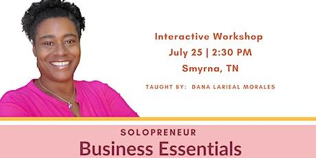 Solopreneur Business Essentials Workshop tickets