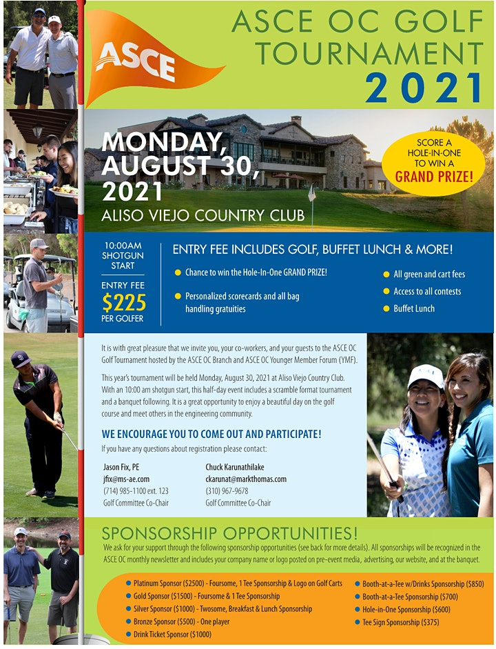 2021 ASCE OC Golf Tournament image