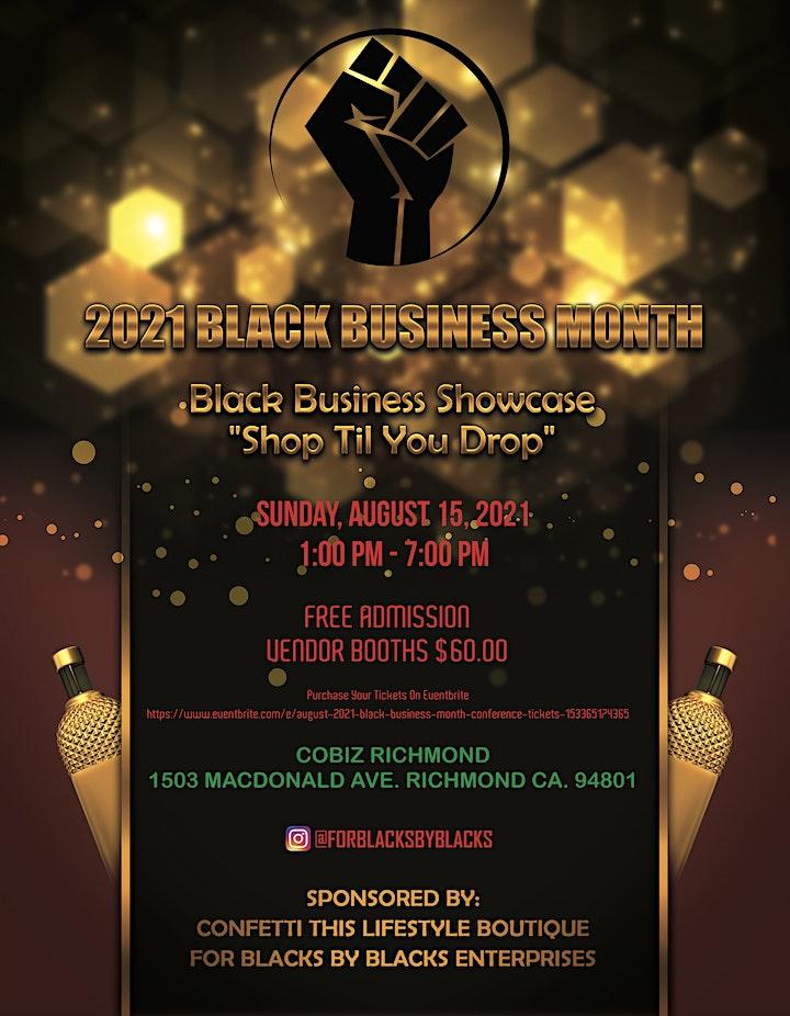 Black Business Showcase August  2021 image