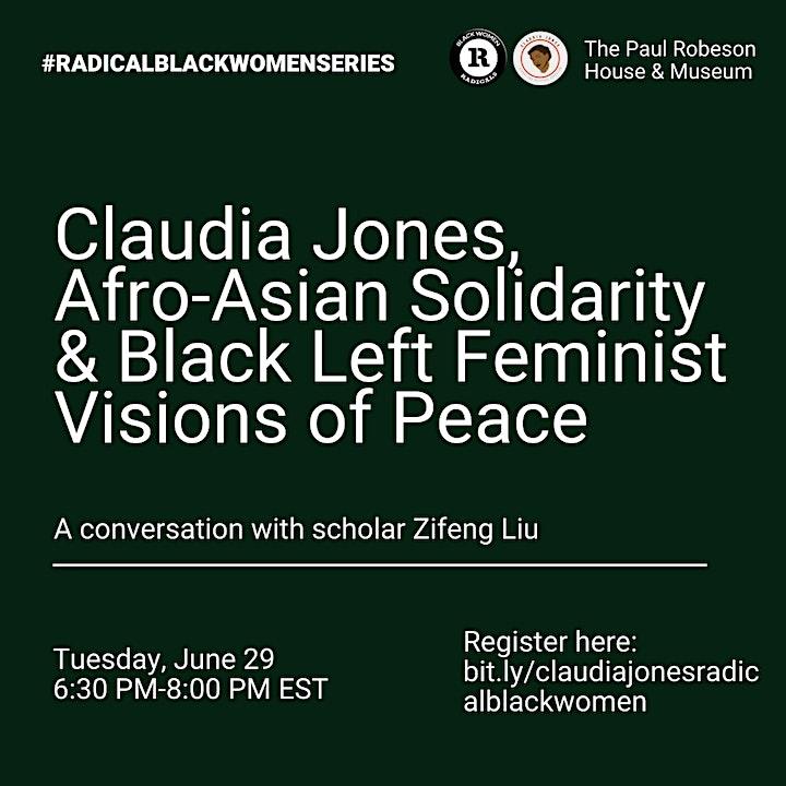 RADICAL BLACK WOMEN: Claudia Jones & Black Left Feminist Visions of Peace image