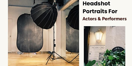 Headshot portraits for actors and performers tickets