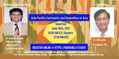 Indo-Pacific Community and Geopolitics of Asia tickets