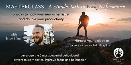 MASTERCLASS - A Simple Path to Peak Performance tickets