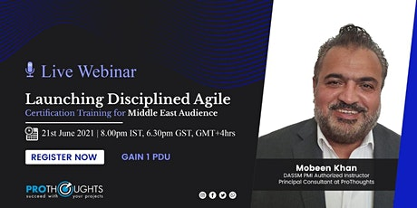 Launching Disciplined Agile In Middle East tickets