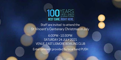 St Vincent's Centenary Staff Christmas in July tickets
