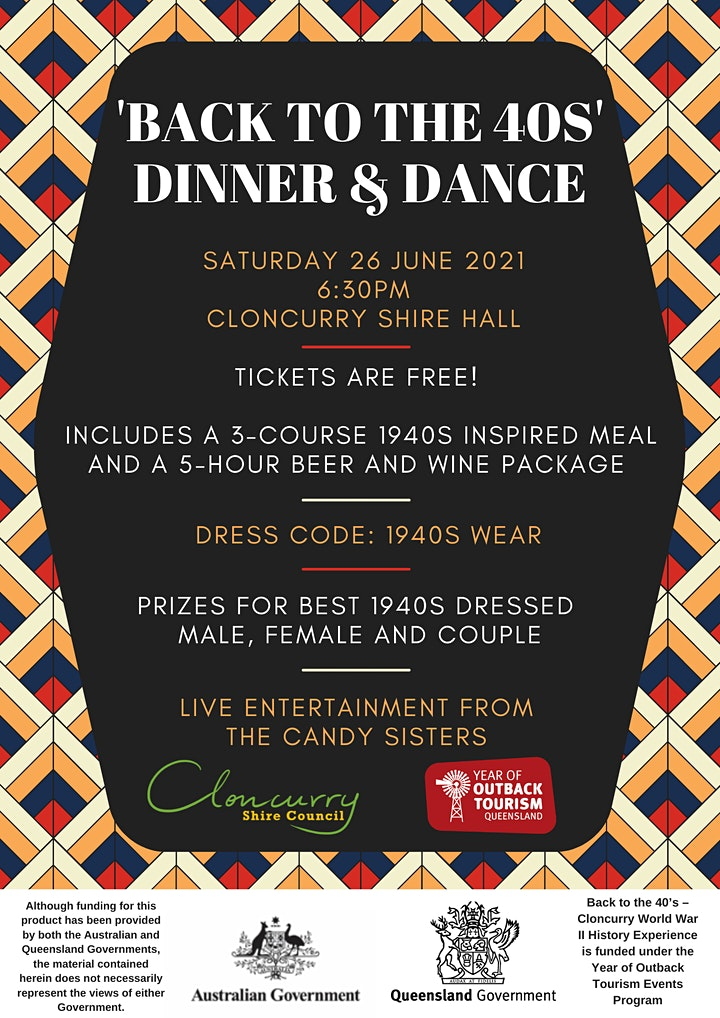 'Back to the 40s' Dinner and Dance image