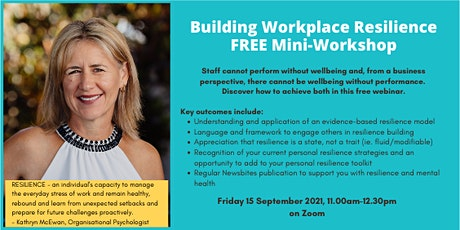 Copy of Mini Workshop - Building Workplace Resilience tickets