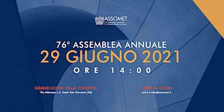 Assemblea Generale Assomet 2021 biglietti
