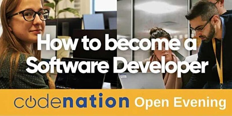 Code Nation Virtual Open Evening 13th July  2021 tickets