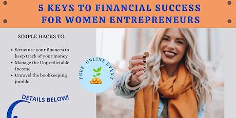 5 Keys to Financial Success for Women Entreprenuers tickets