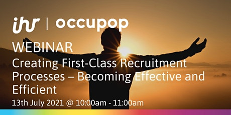Creating First-Class Recruitment Processes – Becoming Effective & Efficient tickets
