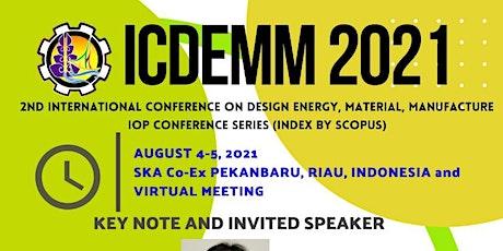 ICDEMM 2021 tickets