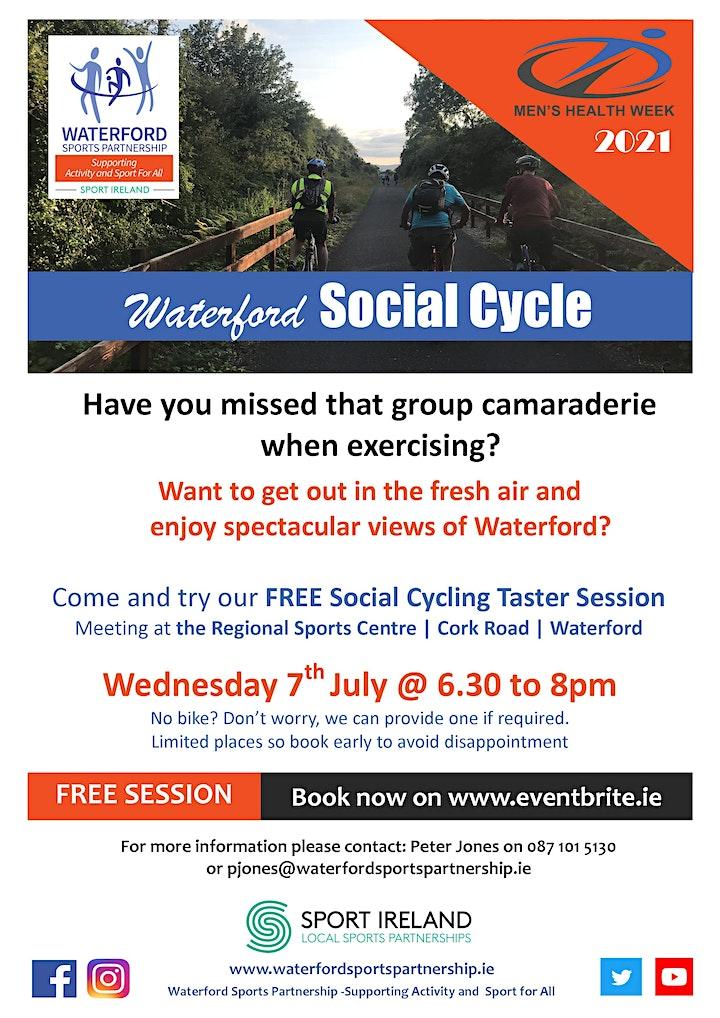 Men's Health Week - Waterford City Social Cycle 280721 image