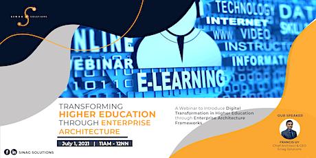 Transforming Higher Education through Enterprise Architecture tickets