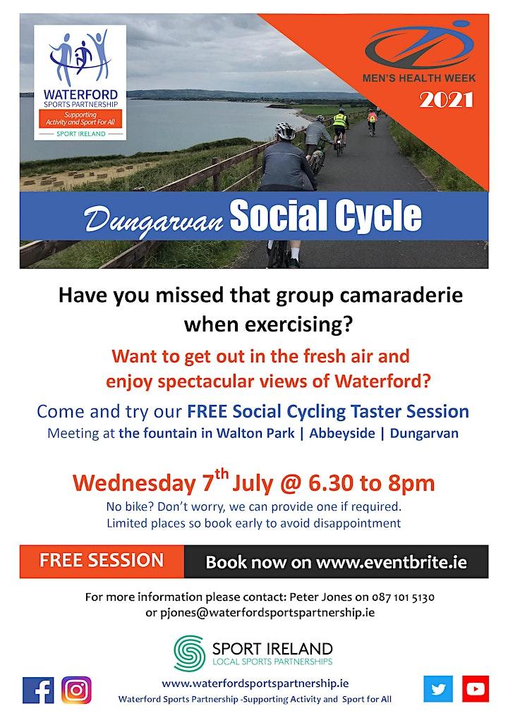 Men's Health Week - Dungarvan Social Cycle 070721 image