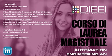 Orientamento post lauream: Automation Engineering biglietti